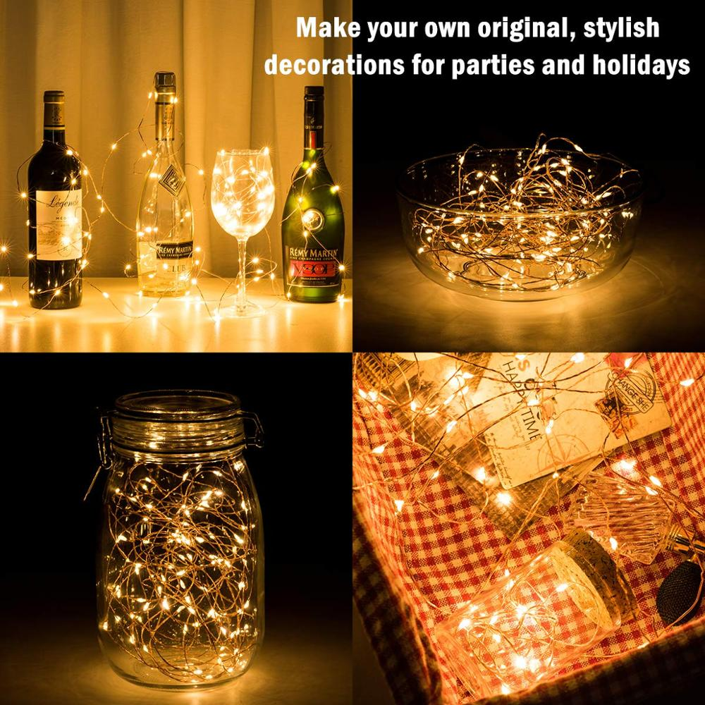 10m 100LED light string fairy light battery powered waterproof elf lights with remote control 8mode copper wire Christmas light in Holiday Lighting from Lights Lighting