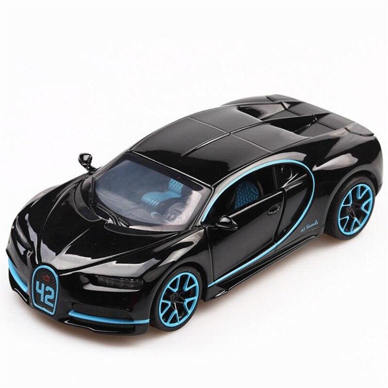 1:32 carro de brinquedo bugatti chiron metal brinquedo liga carro diecasts & veículos de brinquedo modelo de carro escala em miniatura modelo de carro brinquedos para crianças