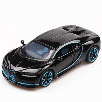 1 32 zabawka samochód bugatti chiron metalowa zabawka stop samochód Diecasts i pojazdy zabawkowe Model samochodu Model w miniaturowej skali samochody zabawkowe dla dzieci tanie i dobre opinie Inne JY Bugatti chiron No Fire 3 lat Mini Pull Back Educational Electronic Model Flashing