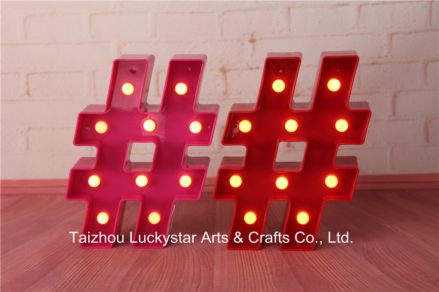 Novelty Free shipping MINI Hashtag LED Marquee Sign LIGHT UP Marquee Light neon light Indoor Deration