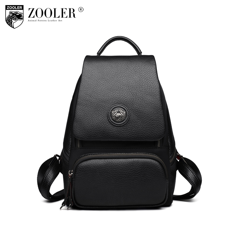 купить ZOOLER Brand Trendy Women Backpack Genuine Leather Shoulder Bag For Ladies Daily Shopping Female Sweet Fashion Leisure Women Bag недорого