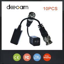 Deecam 10pairs/lot High Quality CCTV video balun in CCTV Accessories bnc connector Single Passive twisted pair transmitter