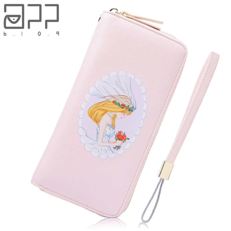 APP BLOG Unique Original Dream Wedding Lady Women's Purse 2018 New Fashion Clutch Wallet Phone Bag Girl Carteira Feminina Mujer