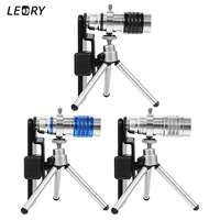 Aluminum 12X Telescope Zoom Camera Lens High HD Telephoto Lens With Phone Clip Tripod For Smartphones