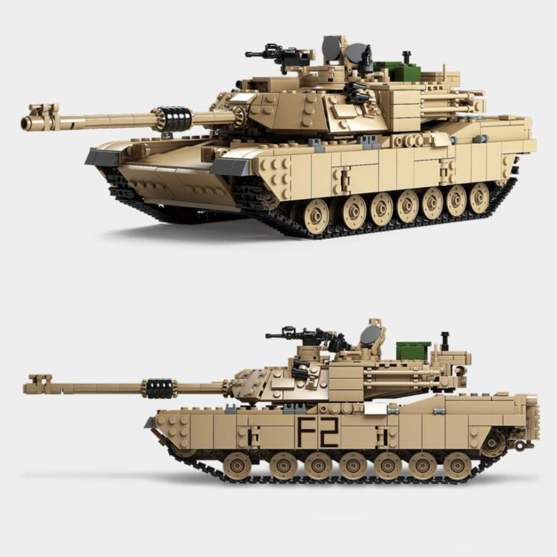 Kazi 10000 1463pcs Military Tank 1:28 Abrams M1A2 Tank Cannon Deformation hummer cars Building Block Brick Toys For Children мозаика l antic colonial frame brick dark 10x20 28 5x31 1