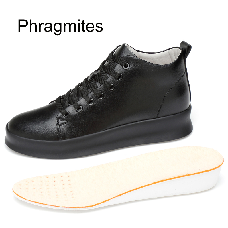 Phragmites Inner Heels 5cm Wedges Shoes For Women Platform Female Sneakers High Ladies Simple Designer White  Boots