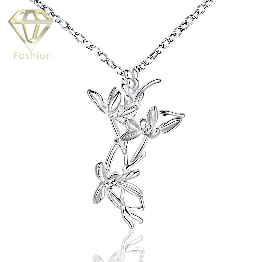 Pernikahan Perhiasan Menarik Dekorasi Unik Bentuk Dengan Bunga Pembersih Kaca Window Brush Semprot Removable Hhm176 Liontin Pernyataan Kalung Perak Berlapis Untuk Wanita