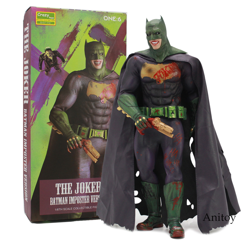 все цены на Crazy Toys The Joker Batman Imposter Version 1/6th Scale Collectible Figure Toy 30cm онлайн