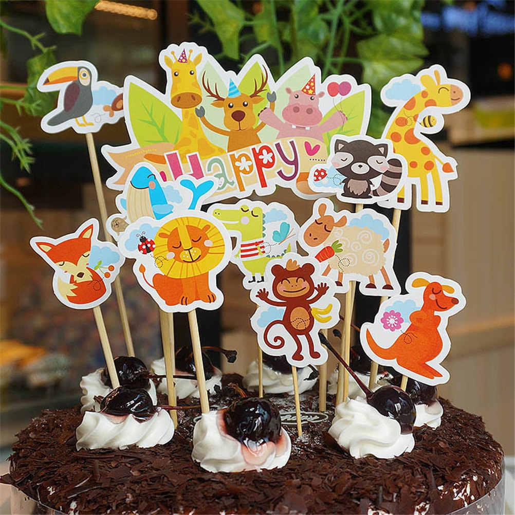 Stupendous 1 Set Birthday Wedding Party Decoration Cut Zoo Animals Happy Lion Funny Birthday Cards Online Amentibdeldamsfinfo
