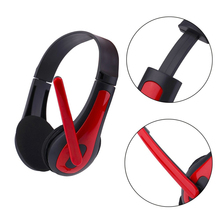 Stereo 3.5mm Wired Headphone Playing Gaming Voice Call With Microphone Adjustabl