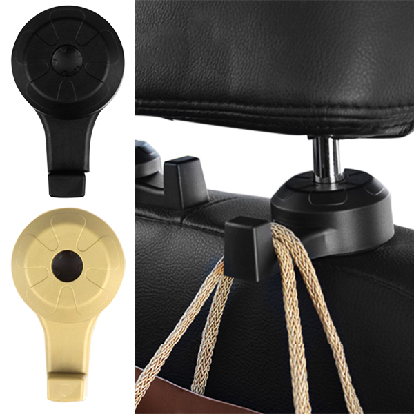 2Pcs Car Hooks Auto Seat Headrest Hanger Cars Interior Accessories Grocery Purse Organizer Schoolbags Cloth Holder Robe Hooks A