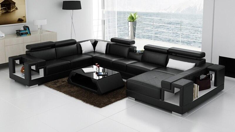 Living Room Black And White Sofa