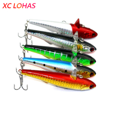 9cm 14.5g 3D Eyes Sinking Pencil Lure Laborious Plastic Canine Fishing Pike Fishing Lure Saltwater Minnow Fishing Sort out PE001
