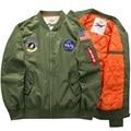 Inverno Homens Jaqueta Bomber Parka DA NASA Homens Mens Jaquetas E casacos Jaqueta Do Exército Verde Militar Para Homens Macho Casaco Chaqueta Hombre. DA26