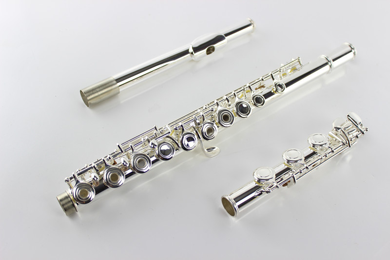 Professional Quality Concert Musical Instruments MARGEWATE 17 Hole Open C Tune Flute Cupronickel Silver Plated With Case E Key