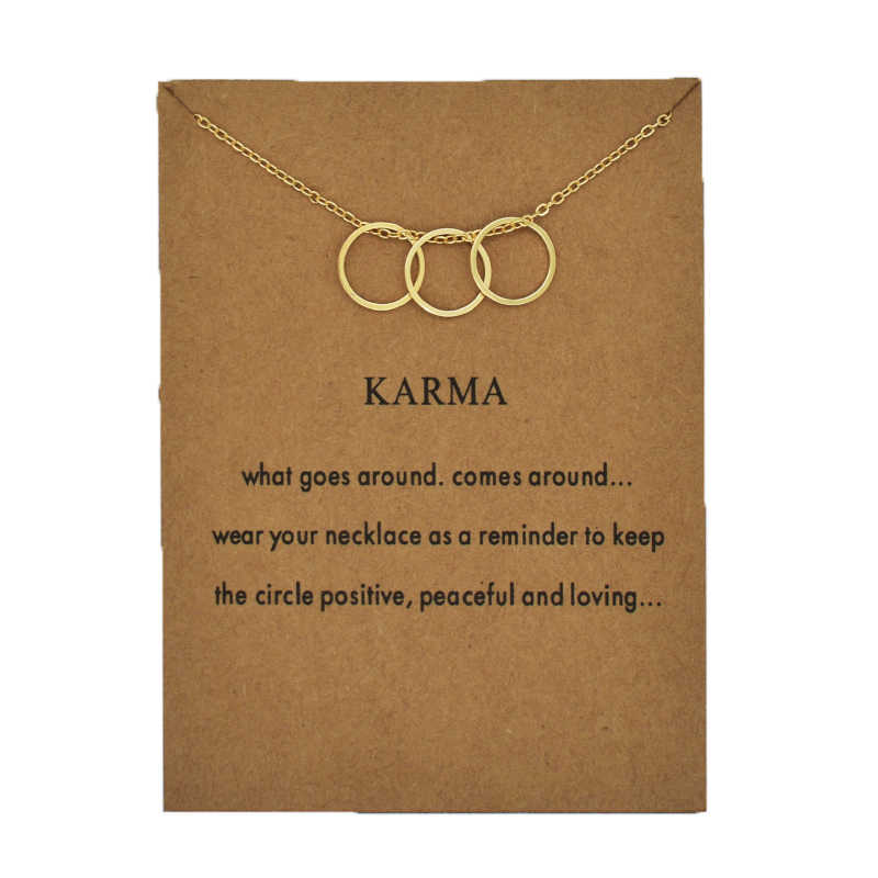 Fashion Jewelry Necklace Women 2019 Kolye Dainty Karma Pendant Necklaces Pearls Circle Geometric Charm Clavicle Chains Collar