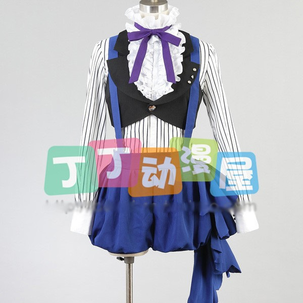 Hot Anime Black Butler Ciel Phantomhive Circus Cosplay Costume Free Shipping Male Female XS-2XL