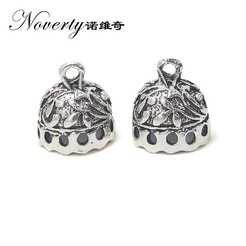 2017 Fashion 5pcs/bag 15mm Retro Zinc Alloy Silver Bell Shape Beads Tassels End Cap Charms Pendants for DIY Jewelry Accessories вытяжка каминная maunfeld tower light 50 white белый