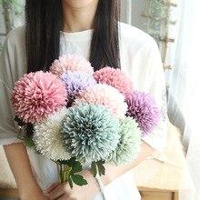 1 шт. Одуванчик цветок шар имитация дорога цитированный искусственный цветок настенный искусственный цветок украшение дома свадебный цветок