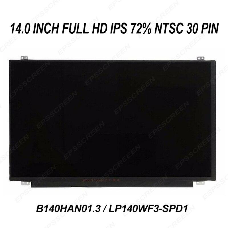 14.0 ips full hd écran LCD pour lenovo thinkpad T440p/T450s/YOGA 14 panneau de remplacement 72% écran non tactile FRU 04X5916/00HT622