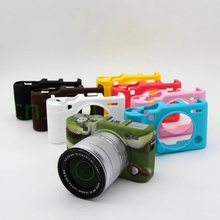 Силиконовые Камера сумка-чехол для Fujifilm XA10 xa3 Камера в 6 цветов, бесплатная доставка