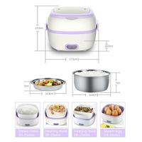 1L Electric Lunch Box Thermos Multifunction Mini Rice Cooker Thermal Insulation Electric Food Thermos Lunch Box for Kids