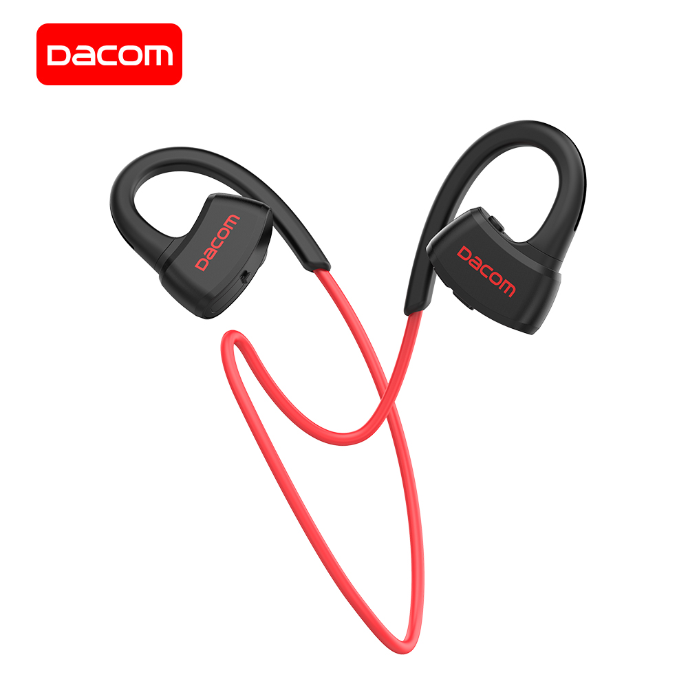 DACOM auriculares inalámbricos incorporado MP3 jugador auricular Bluetooth deportes auriculares con micrófono IPX7 impermeable para iPhone Samsung Mi