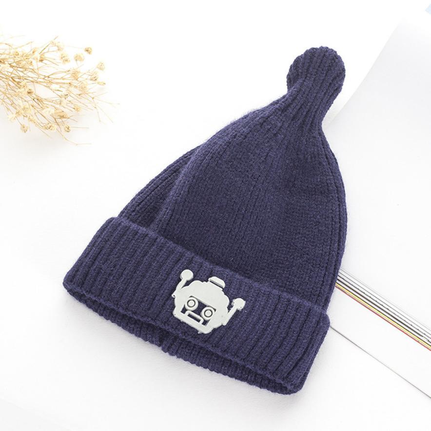 Women's Hats Women's Baseball Caps Fashion Style Feitong Children Baby Novelty Winter Warm Robot Kniting Hat Bone Masculino Ski Mask #w37