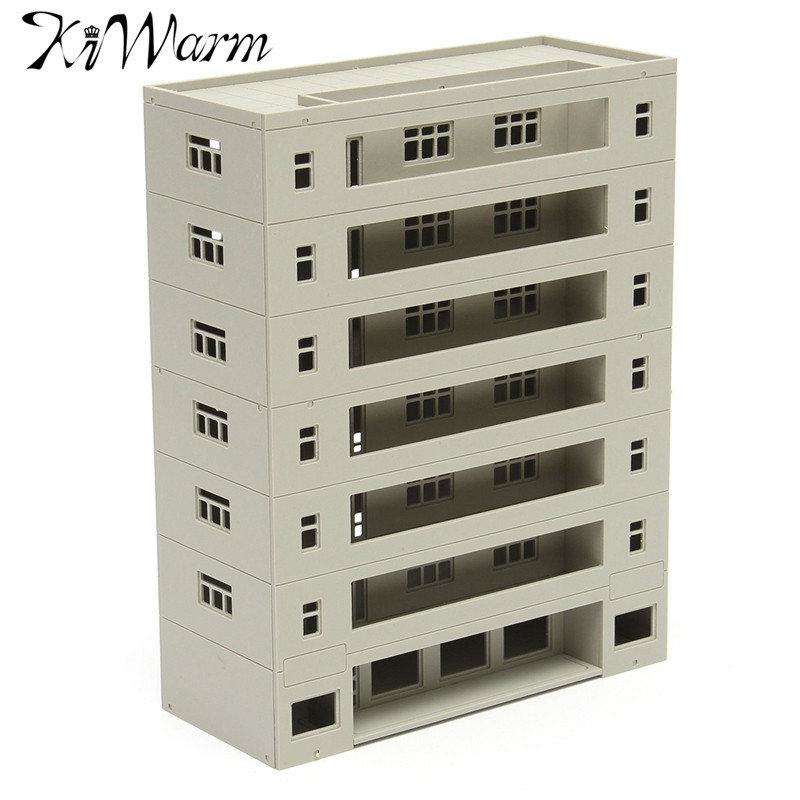 KiWarm Modern Scale 1:160 Grey Miniatures Models Modern Building Dormitory School Layout DIY Scaled Model Micro Landscape Decor|decorative decorative|decor diy|decoration school - title=