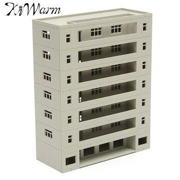 KiWarm Modern Scale 1:160 Grey Miniatures Models Modern Building Dormitory School Layout DIY Scaled Model Micro Landscape Decor