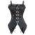 2017 Nueva Moda Gothic Punk Rayado Overbust Steampunk Corsé Cintura Trainer Talladora del cuerpo Corsés Y Bustiers Plus size XXL