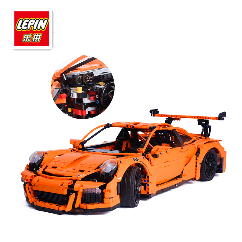 LEPIN 20001 technic series Model Building Kits Bricks Blocks Race Car Educational Toys Compatible lego 42056 for Children Gift lepin 02012 774pcs city series deepwater exploration vessel children educational building blocks bricks toys model gift 60095