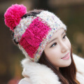Fashion Comfort Softness Cute Autumn Winter Warm 100% Handmade Knitted Hat Women Beanie