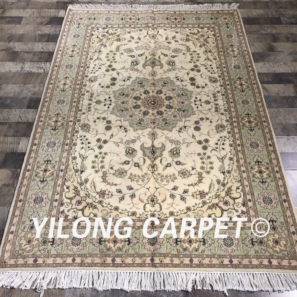 Yilong 4x6 traditional chinese handknotted durable wool silk rug oriental living room decoration carpet wool (WY2100S4x6)Yilong 4x6 traditional chinese handknotted durable wool silk rug oriental living room decoration carpet wool (WY2100S4x6)