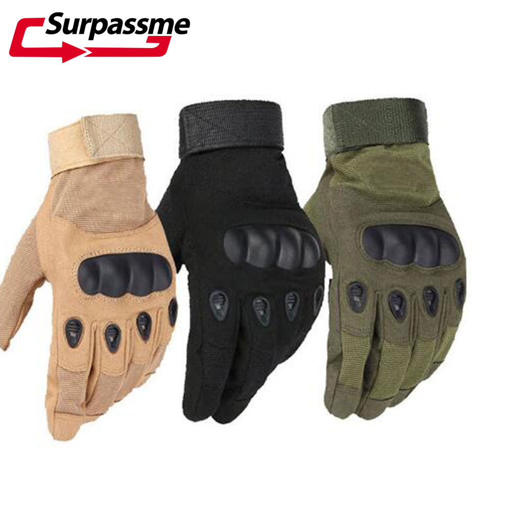 Guantes de motocicleta de dedo completo transpirable de carreras de cuero Motocross motociclista Moto deportes al aire libre militar táctico mujeres