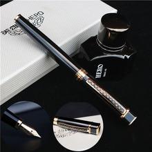 جديد أسود قلم حبر صندوق تغليف غطاء كبير يد ثقيل لا تتردد نقش نص على قلم