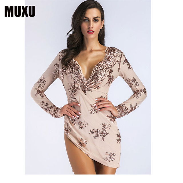fashion sexy black sequin dress clothes women clothing glitter patchwork  long sleeve moda feminina party 2018 ladies dresses 892110a9f153