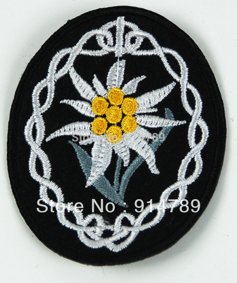 WWII GERMAN WH HEER MOUNTAIN TROOPS EDELWEISS SLEEVE INSIGNIA PATCH-33144