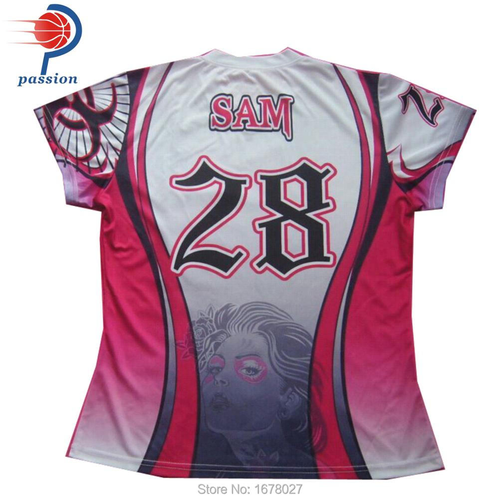 Durable Light Weigh White Pink Girls Fitted Pro Softball Shirts 28