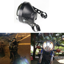 7 Inch LED Headlight Shall Daymaker Housing Bucket For Harley Davidson Softail Slim, Yamaha Roadstar 1700 цена 2017