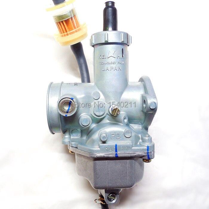 Keihin accélérateur manuellement PZ30 moto carburateur 30mm Carb 200 ~ 250CC ATV Karting monocylindre buggy