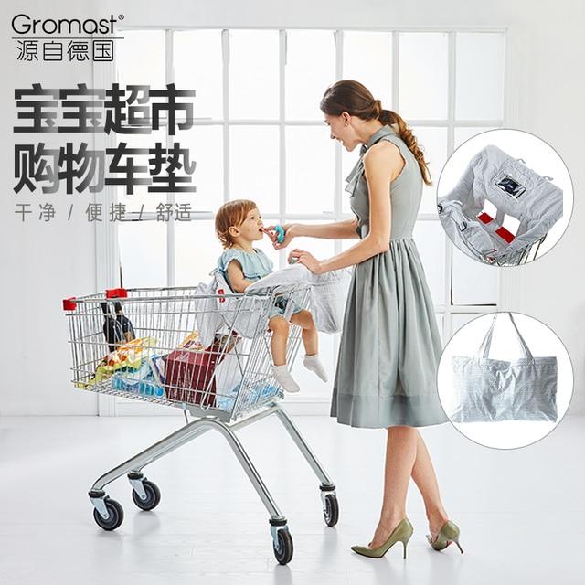 ef9494d4030b Children Shopping Cart Cushion Kids Trolley Pad Baby Shopping Push ...