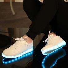 Теннис светодиодные feminino моделирование Корзина LED Running Shoes Light Up тренеров Световой светящиеся Кроссовки светодиодные тапочки дети shoes