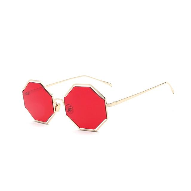 cc17f32698a11 Moda Lente Vermelha Óculos De Sol Das Mulheres Dos Homens Óculos de Sol Do  Vintage de