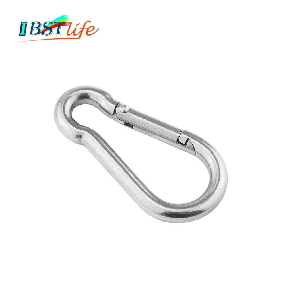 5mm  Multifunctional 304 Stainless Steel Spring Snap Carabiner Quick Link Ring Hook Snap Shackle Chain Fastener Hook