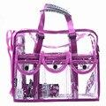 Дизайнер прозрачный сцепления сумки большой емкости водонепроницаемый сумка женская мода макияж сумка для путешествий