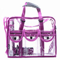 Designer transparent clutch bags large capacity waterproof handbag women fashion makeup bag for travel