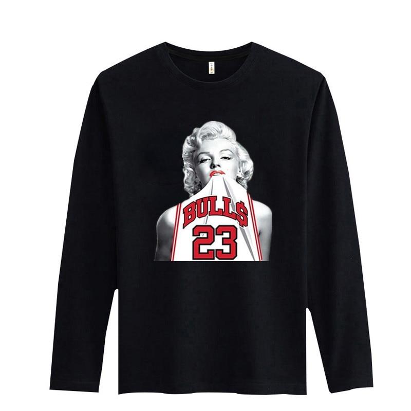 93803712e7 ᗔNew Arrival Marilyn Monroe Mens Long Sleeve Tshirts Hip Hop for ...