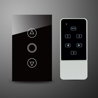 Wall Light Touch Remote Dimmer Switch White Crystal Glass Panel 1 Gang 1 Way Wireless Remote