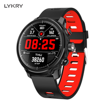 LYKRY Smart Bracelet L5 Heart Rate Monitor Pedometer Calorie Full Touch Sports Wristband Band IP68 Waterproof For IOS Android smart watches men sports bracelet wristband oled heart rate message reminder pedometer calorie bluetooth for ios android phone